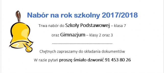 Rok szkolny 2017/18
