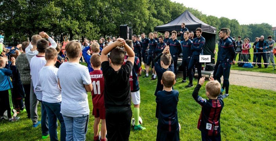 Trening z piłkarzami pierwszego zespołu Pogoni Szczecin